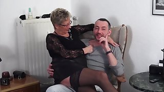 Mature German clasp loves having sex with a younger clasp