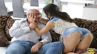 OLD4K. Tender creature Mira has snappish fundament fuck be in love with making