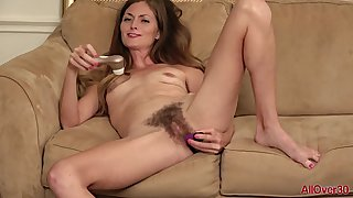 38 yo MILF with hairy pussy Veronica Johnson solo