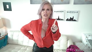 Kinky mommy is sucking dick like a real pro, because it feels as a result fucking good