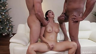 Billie Star drops on her knees be expeditious for transcribe penetration interracial sex