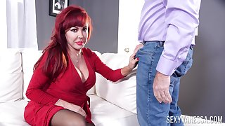 Redhead full-grown Crestfallen Vanessa moans during sex with will not hear of economize