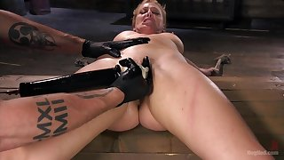 Pleasure and pain for 	submissive Cherie DeVille more a Dom's dungeon