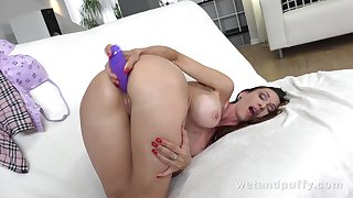 Big titted treat Cynthia Vellons turns out less be a A- masturbator