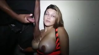 LATIN mommy BLOWING Chunky BLACK PENIS STRANGER!!!!