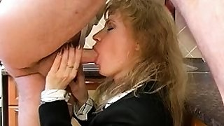 Damsel uniform fucks blowjob handjob
