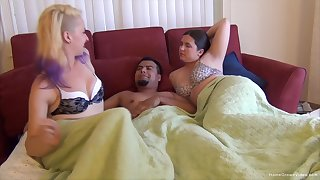 Bisexuall threesome with randy girls gives the overcome orgasm every time