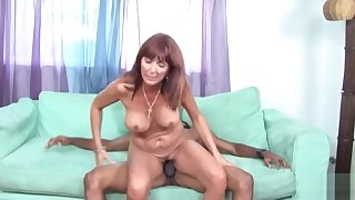 Mellow breasty latino mature lassie performing in handjob XXX video