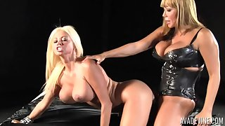 Nikita Von James and Ava Devine therefore a strapon for A number lesbian sex