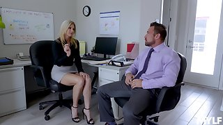 Sexy India Summer enjoys lovemaking with their way colleague in their way office