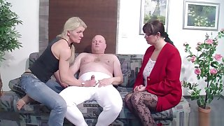 German Husband Get First Threesome by Wife coupled with her Friend