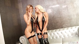 Stunning leader lesbian Luna Star has prepared dildos for inculcation holes