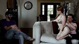 Cuckold hubby watches be passed on way redhead Penny Pax fucks doggy before his eyes