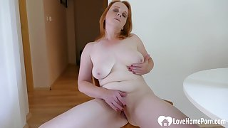 Older redhead chick is here back masturbate irrevocably