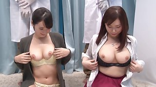 Hardcore decide pussy fuck with couple of Japanese babes