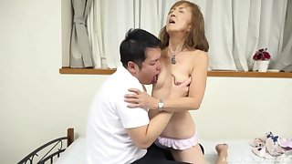 Mature Japanese tries nephew for a handful rounds of sex
