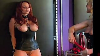Curvy following gets dominated by a professional MILF dominatrix Nina Hartley