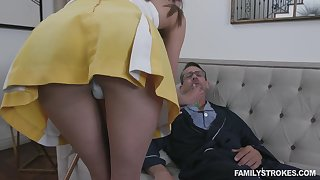 Horny grandpa fucking 19 yo step granddaughter in short wholesale Zoe Sparx