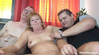 Naff group carnal knowledge with German mature amateur and a younger couple